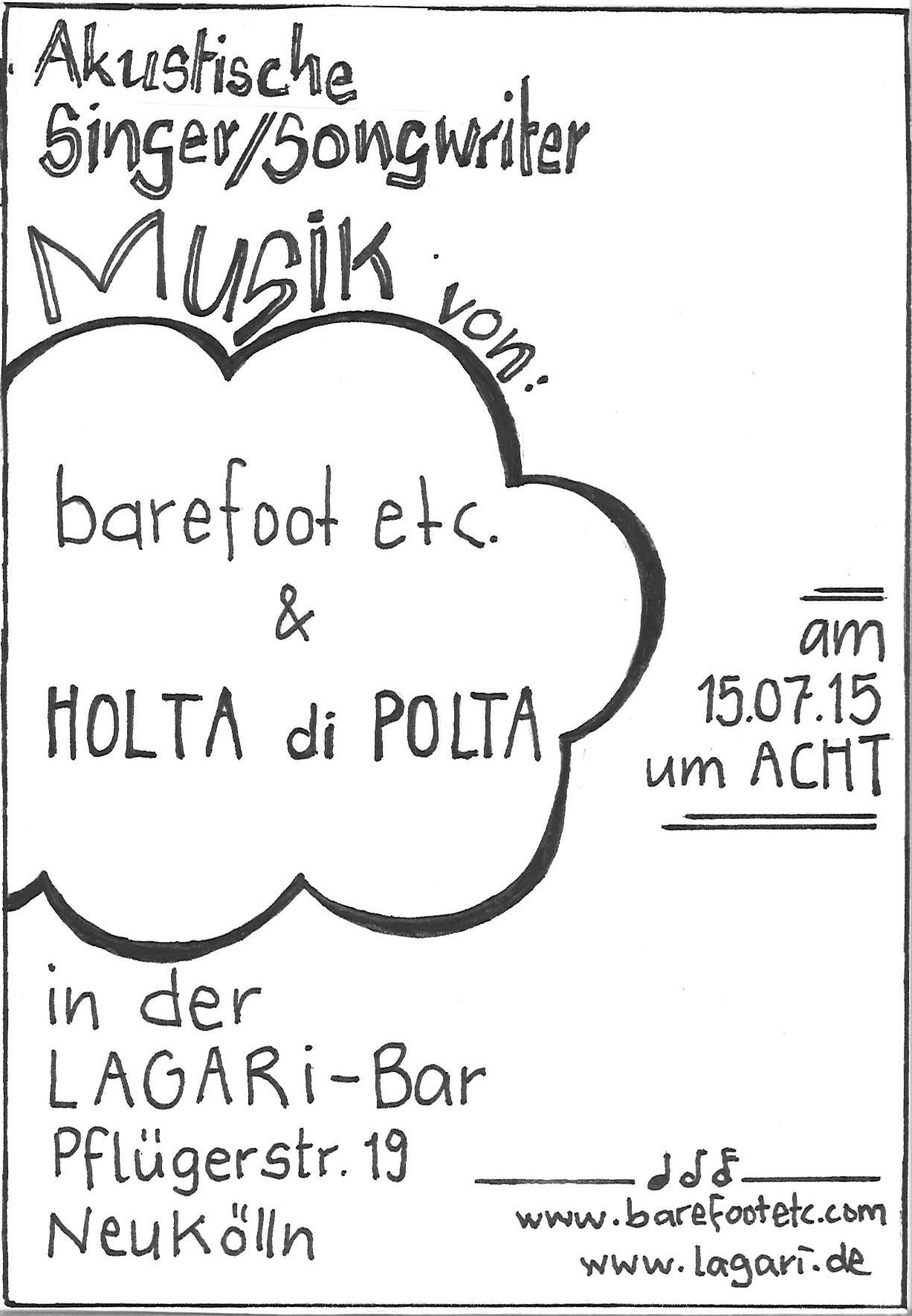 gig at Lagari, Neukölln, Pflügerstr. 19, July 15, 2015 at 8 pm